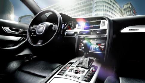 Transportation - Interiorfoto Audi A6 Dashboard mit Lens Flare_ Studio39 Duesseldorf