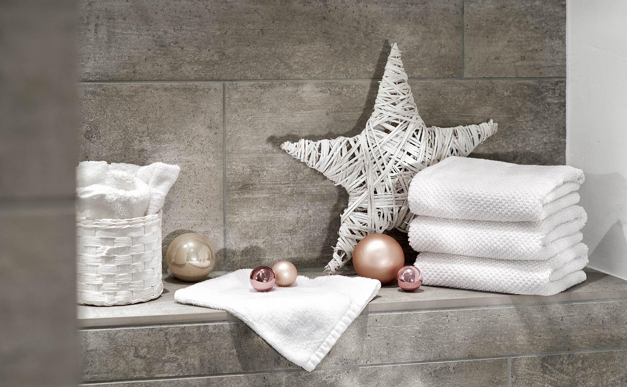 Home Living Dekoration Handtuchstapel Weihnachtliche Deko
