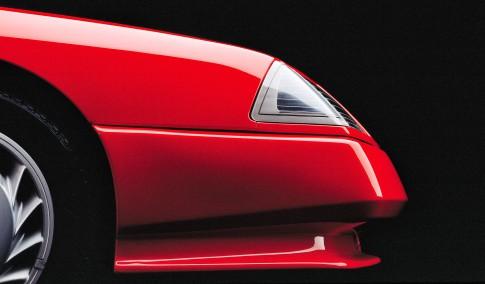 "Transportationfoto - Studio-Borho-Roter Renault Alpin ""Lackaufnahme"""