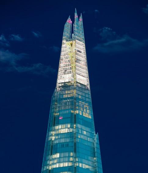 Architektur - The-Shard bei Nacht_London
