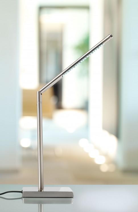 Home/Living/Dekoration - LivarnoLUX-Tischleuchte edelstahl mit LED-Licht
