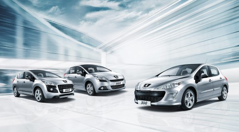 Transportation - Peugeot-Range-Foto 308-3008-5008 in Silber