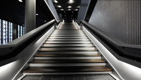 Architektur--Treppe-Messe---Frankfurt