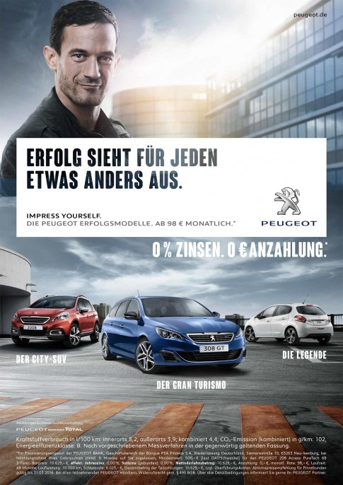 Peugeot-Range-Printkampagne2016, Modelle 208/2008/308s/w GT